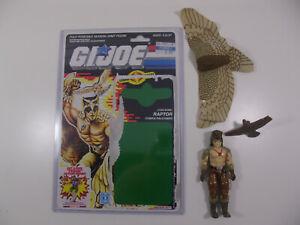 GI Joe Raptor 100% Complete 1987 Falcon Talon unbroken w Full Uncut Cardback