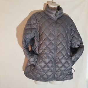 32 Degrees, Large 90% Duck Down, Packable Quilted Puffer Jacket Lightweight Gray