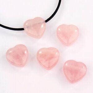 Rosenquarz Herz - Anhänger wunderschöne AA - Qualität gebohrt Größe ca. 20 mm