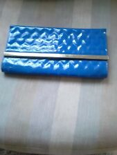 Blue Quilted Patterned Clutch Bag