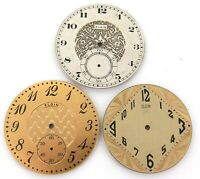 .3 VERY GOOD VINTAGE ELGIN MENS POCKET WATCH DIALS.