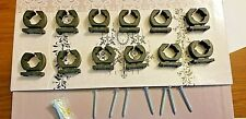 30 Fishing Pole Rack Storage Clips Holders Clamps Golf Club Rubber W/screws