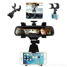 Car Mount Rearview Mirror Truck Auto Bracket Holder Cradle For iPhone 7/6/6sPlus