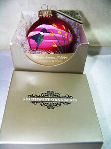 Southwest Ornaments Adobe Sweet Adobe Brenda Schodt Artist Painted Glass Ball