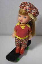 """Mattel ~ 1997 ~ Kelly' Dolls Friend """"Sally"""" ~ """"Skateboarding Fun~~~~"""
