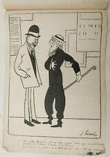 Beau Dessin Ancien Encre Illustration JOSEPH HEMARD c.1920 Poète #3
