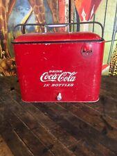 VINTAGE COCA COLA A4 TALL COOLER SIGN COKE 7UP PEPSI ORANGE CRUSH DR PEPPER