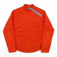 Vintage PATAGONIA SYNCHILLA Orange High Neck Fleece Jumper Women's Size Medium