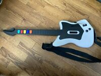 Guitar Hero Controller Playstation 2 PS2 Red Octane Wireless White NO Dongle