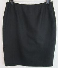 Vintage J. London Pencil Skirt 100% Wool Black Size 10 Classic Short