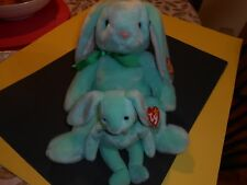 set of 2 TY beanie baby hippity 96 made in indonesia 2 tush tags & Beanie Buddy
