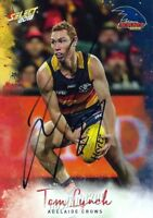 ✺Signed✺ 2018 ADELAIDE CROWS AFL Card TOM LYNCH