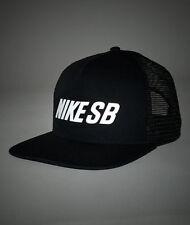 Nike SB Trucker Black Cap Reflective Hat Snapback Flat Peak Skateboarding  OSFM dcfedcb10b20
