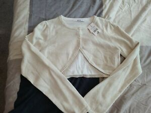 Girls New Cropped Cardigan Age 12-13