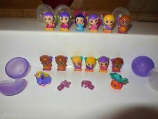 BLIP PRETEND TOY SQUINKIES MINIATURE CHARACTER FAIRY FAIRIES WINGS BUBBLES LOT