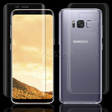 Front or Back Tempered Glass Screen Protector Guard Shield for Samsung Galaxy S8