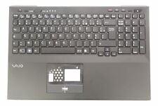 New Sony Vaio VPCSE1 VPCSE2 Black Palmrest Cover French Backlit AZERTY Keyboard