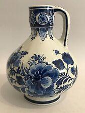 De Porceleyne Fles Krug Jug Delfter Blau Holland Delft H: 15 cm