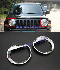 Fits 2011 2017 Jeep Patriot Chrome Angry Bird Front Headlight Cover Trim Decor Fits 2012 Jeep Patriot
