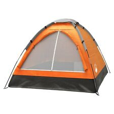 """Wakeman Two Person Outdoor Camping Dome Summer Tent 40"""" Height Orange USA"""