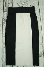 Balmain x H&M Knit Block Coloured Stretch Skirt - US12 US 12 EUR 42 Black White
