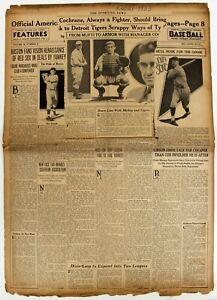 1933 SPORTING NEWS BASEBALL MAGAZINE ORIGINAL RED SOX 12 21 1933