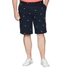 """New listing Nwt Nautica Mens Size 34 Navy Blue Allover Flag Classic Fit The Deck Short 8.5"""""""