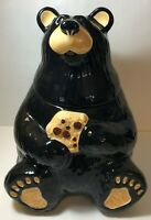 Vintage Black Bear Cookie Jar, Singing Tree Farms Big Sky Carvers BearFoots