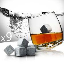 Lote De 9 Piedras Whisky-hielo Piedra-bebidas espirituosas-vino–alcohol cóctel