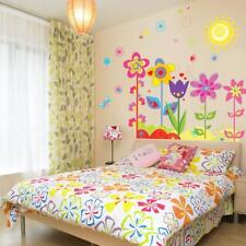 Colors Flowers Removable Wall Sticker Decals Kids Girls Living Room Nursery Jian