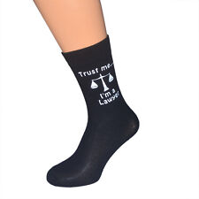 Trust me I'm a Lawyer with Scales of Justice Image Mens Socks