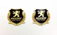 Side Badge Gold Colour Metal Emblem Peugeot