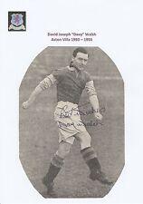 Davy Walsh Aston Villa 1950-1955 rare original hand signed magazine Cutting