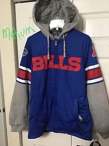 j Buffalo Bills Jersey Hoodie NFL Player Sweater TEAM Logo Mens Size Medium