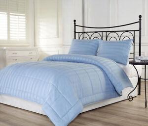 800 TC Egyptian Cotton 100 200 300 GSM Down Alternative Comforter US Size Stripe