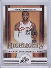 2009-10 Panini Season Update LeBron James HL Card #18