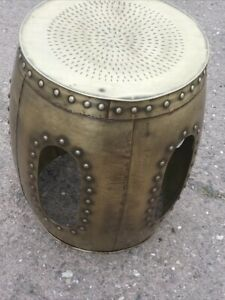 Gold meltal stool decorative stool side table new steel