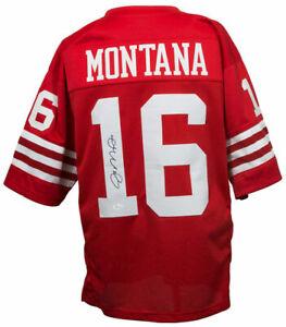 Joe Montana Signed Red San Francisco Pro-Style Football Jersey JSA ITP