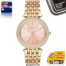 New Michael Kors Ladies Watch Darci Yellow Gold & Rose Gold Crystal Glitz MK3507
