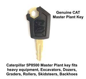 CAT Genuine Master Plant Key 5P8500 Fits Excavators Rollers Dozers Caterpillar