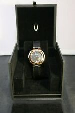 Authentic Bulova Womens Rubaiyat - 97P139  Rose with Leather Strap LOOK!!