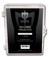 Case of 100 Max Pro 35ct Hinged Plastic Baseball Trading Card Box Ultra Clear