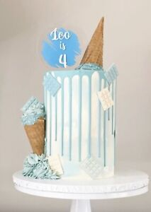 Personalised Acrylic Cake Topper.your Choice Of Wording And Colour