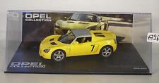 Opel Collection 1/43 Opel Speedster gelb 2000 - 2005 in Plexi Box #6713