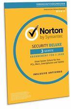 Norton (Internet) Security DELUXE 2019 für 3 Geräte - PC,MAC, Android