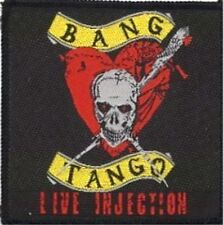"""BANG TANGO """"LIVE INJECTION""""  sew on woven patch"""