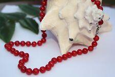 K04 47cm Perlas JOYA COLLAR DE PERLAS Collar Cadena Cadena Coral Joyas de piedra