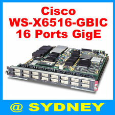 Cisco WS-X6516-GBIC Switch Module for Catalyst 6000 6500 Series - 16-Ports Gbps