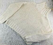 Eileen Fisher ivory oversized crop sweater SIZE S PETITE mock neck (K)