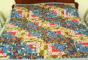 "49"" x 63"" Large - Saturday Morning Cartoons - Quilt/Throw (Cotton/Flannel) New"